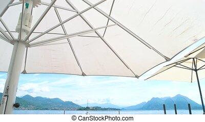 Restaurant terrace, scenic view. - Restaurant terrace scenic...