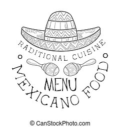 Restaurant Traditional Mexican Cuisine Food Menu Promo Sign ...