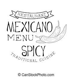 Restaurant Traditional Quisine Mexican Food Menu Promo Sign ...