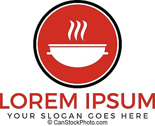 Restaurant vector logo design.