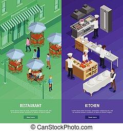 Restaurant Vertical Banners Set