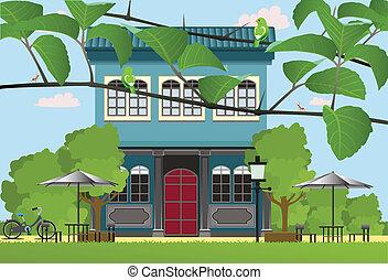 restaurant., villa