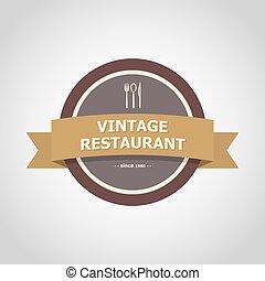 Restaurant vintage badge style