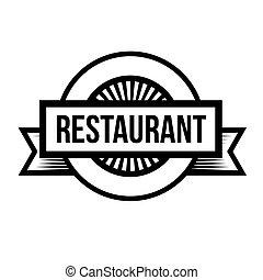 Restaurant vintage stamp