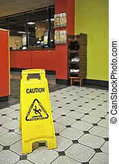 Restaurant Wet Floor Sign