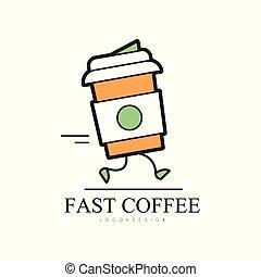 restaurant, winkel, koffie, mal, dienst, identiteit, voedingsmiddelen, aflevering, vasten, creatief, vector, illustratie, achtergrond, logo, witte , collectief ontwerp