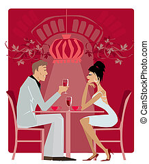 Restaurant1 - Couple in the restaurant