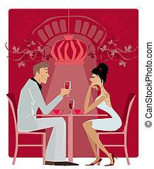 Restaurant1 - Couple in the restaurant