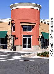restaurante, -, alameda, tira, tienda de barrio