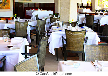 restaurante, clube, modernos, noturna, interior, ou