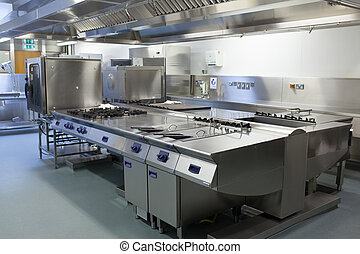 restaurante, cocina, imagen