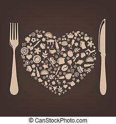 restaurante, desenho