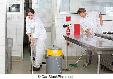 restaurante, limpieza, ayudas, cocina