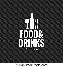 restaurante, menu., alimento y bebida, plano de fondo