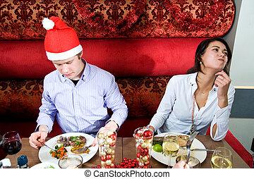 restaurante, navidad