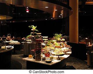 restaurante, por la noche