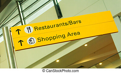 restaurante, signage