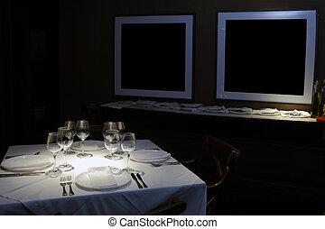 restaurante, tabla