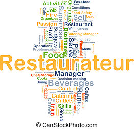 restaurateur, concetto, fondo