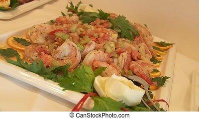 restauration, crevettes