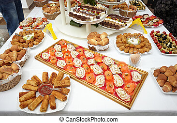 restauration, nourriture, restaurant