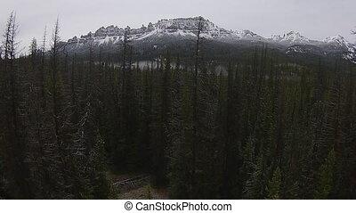 Restberge, Luftaufnahmen, Wyoming, togwotee, Spitzturm,...