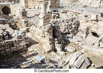 Byzantin rue mur bethesda glise anne j rusalem for Piscine de bethesda