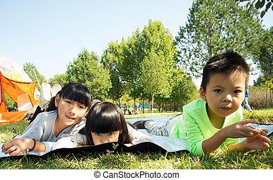 Resting children