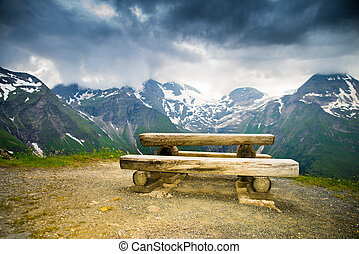 resting place in the Alps