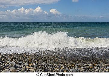 Restless Black Sea and blue sky