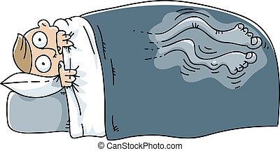 Restless Leg Syndrome - A man wakes and struggles with...