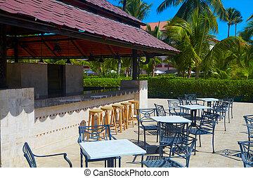 Resto bar in tropical resort
