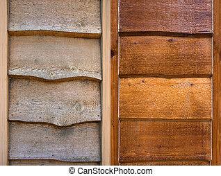 Restoration - a comparison shot of old wood and restored...