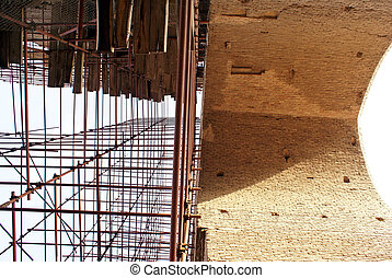 Restoration - Rastoration of big arc in Tabriz, Iran