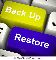 Restore backup concept meaning retrieval of data and...