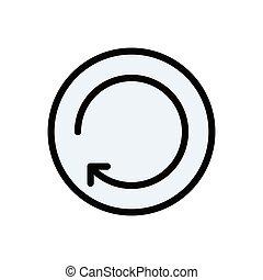 restore flat color icon