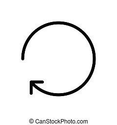 restore thin line icon