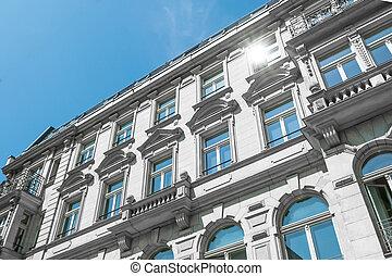 restored building exterior / apartment building facade