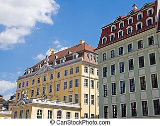 Restored buildings in Dresden