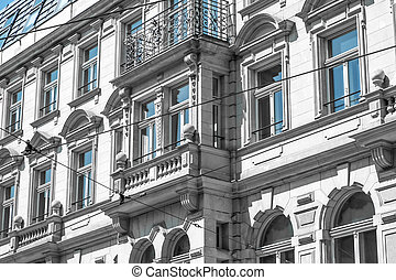 restored house exterior / apartment building facade