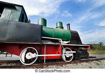 Restored steam train locomotive
