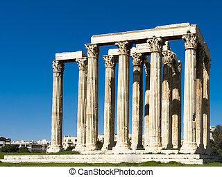 restos,  Olympieion, templo