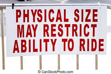 restrições, peso