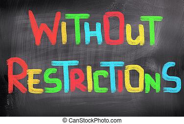 restricciones, concepto, sin