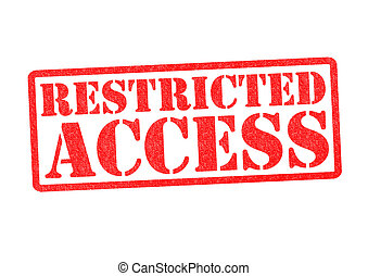 RESTRICTED ACCESS Rubber Stamp over a white background.
