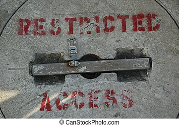 restriced acess cover on a boat