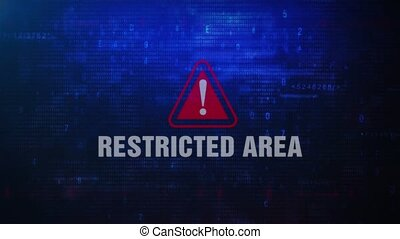 Restricted Area Alert Warning Error Message Blinking on...