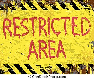 Restricted Area Enamel Sign