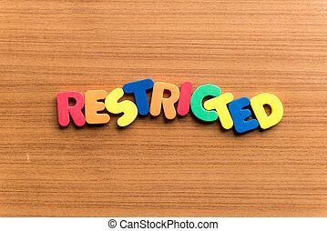 restricted colorful word
