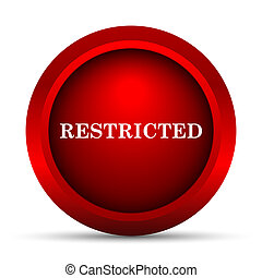 Restricted icon. Internet button on white background.